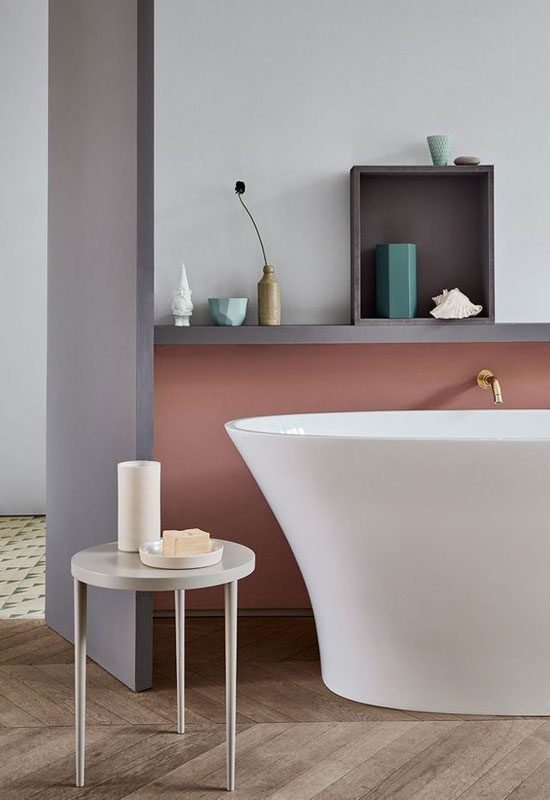 salle de bains terracotta
