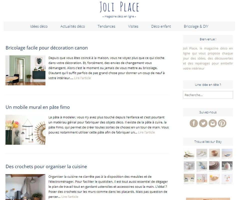 Joli Place blog de déco DIY