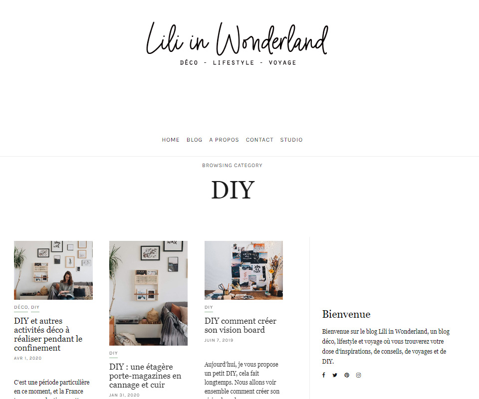 Lili in Wonderland blog de déco DIY