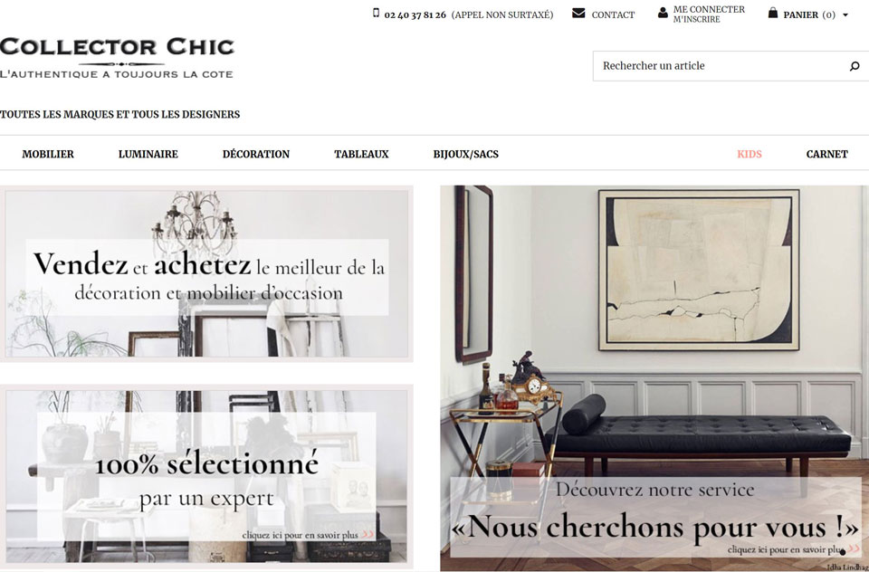mobilier design d'occasion collector chic