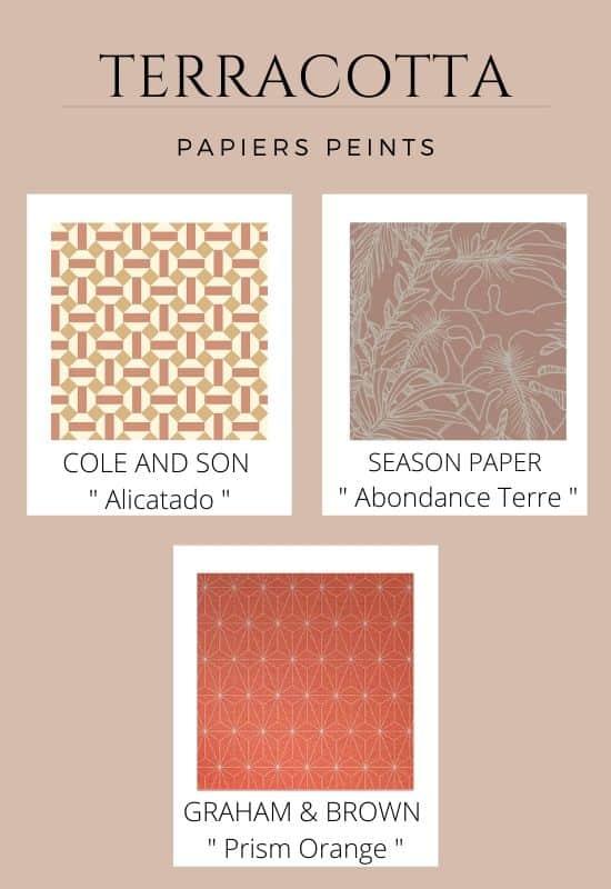 papier peint terracotta