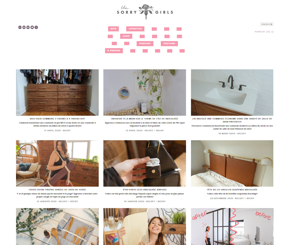 The Sorry Girls blog de déco DIY