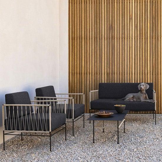 Canapé de jardin 2 places en métal