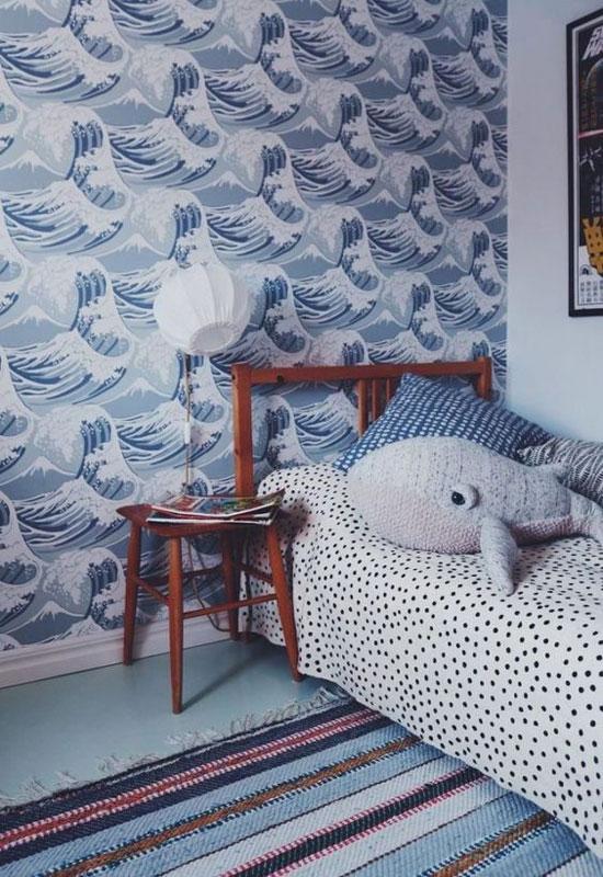 Chambre d'enfant bleue