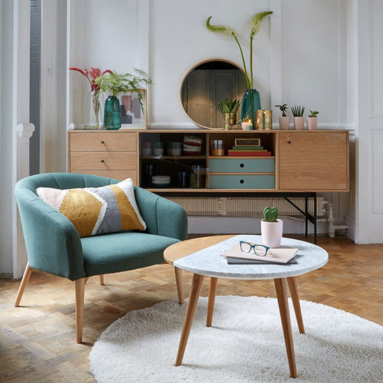 Fauteuil coquillage style scandinave
