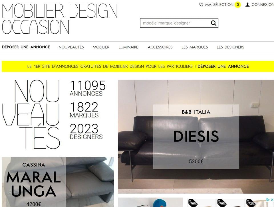 mobilier design d'occasion