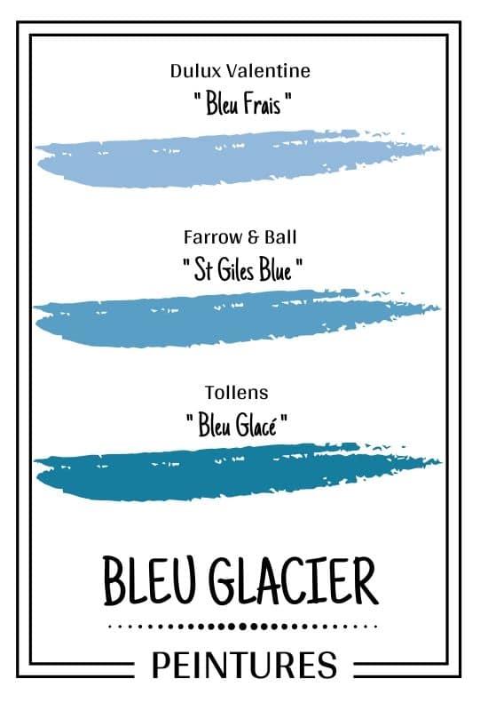 peinture bleu glacier