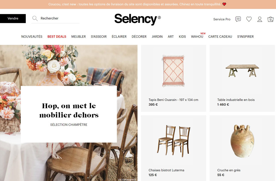mobilier design d'occasion selency