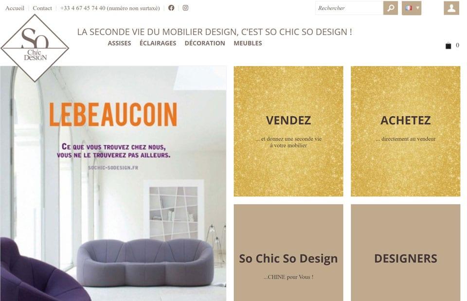 mobilier design d'occasion so chic so design