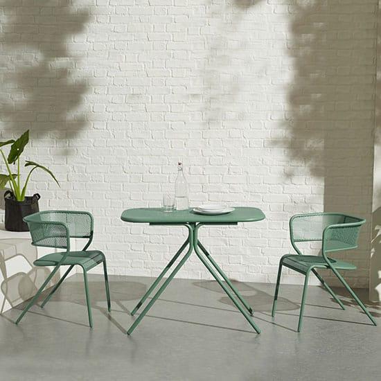Table avec chaise pour balcon