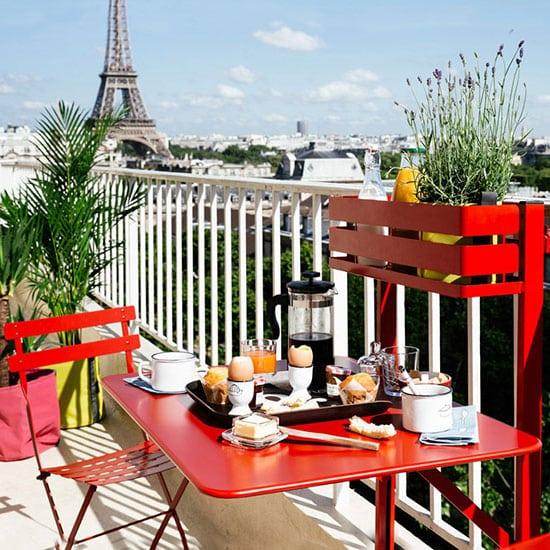 Petite table pliante pour balcon