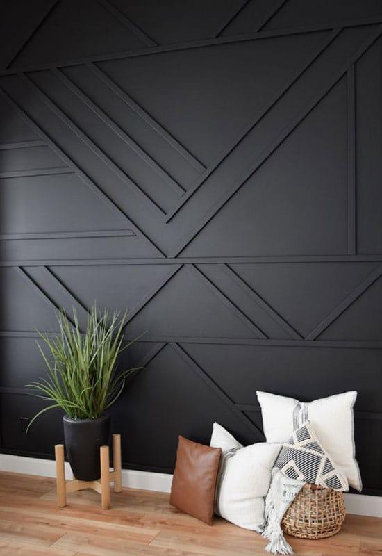 Murs à la déco géométrique