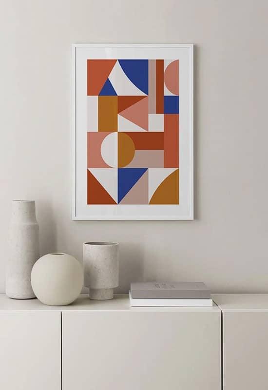 Poster déco géométrique