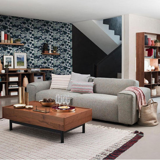 Canapé confortable style géométrique
