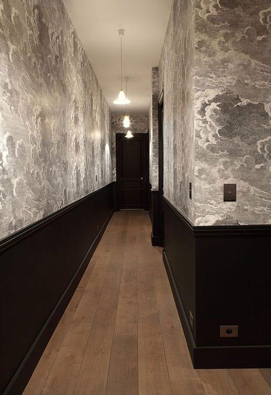 Papier peint pour déco de couloir étroit