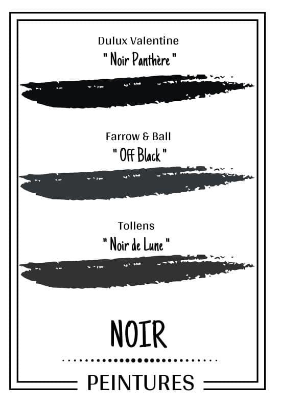 Nuancier peinture couleur noir