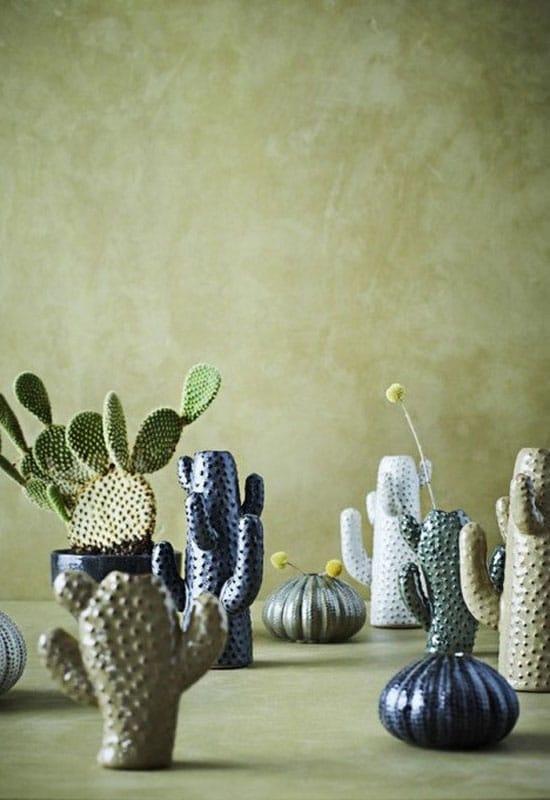 Deco vase avec cactus