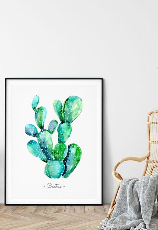 Déco tableau cactus