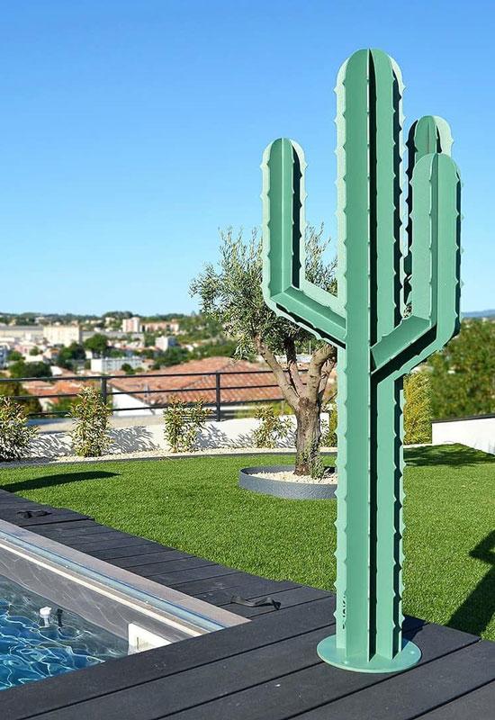 Décoration pour l'extérieur cactus géant en métal