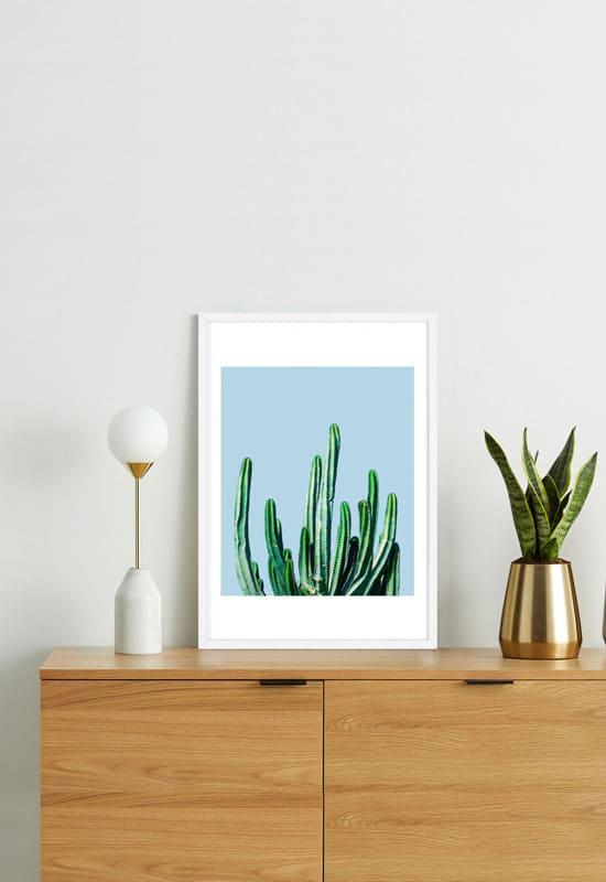 Cadre déco affiche cactus