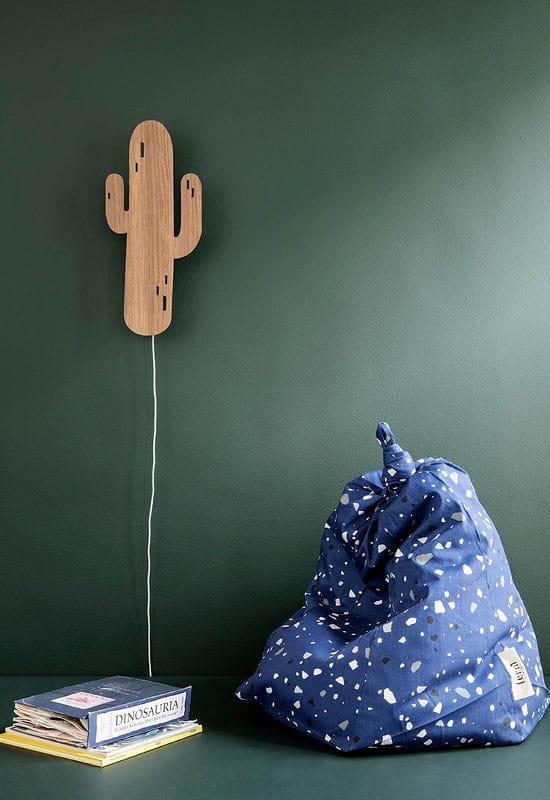 Applique cactus en bois