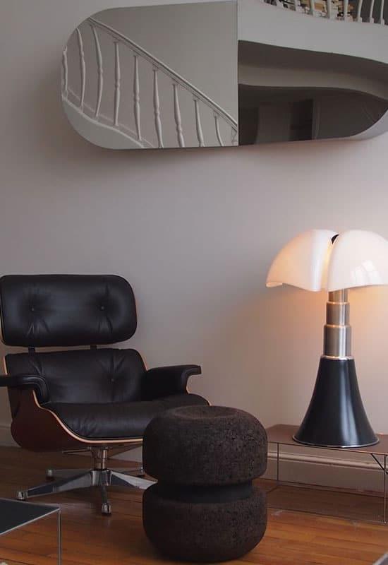 Lampe pipistrello noir mat hauteur 86 cm
