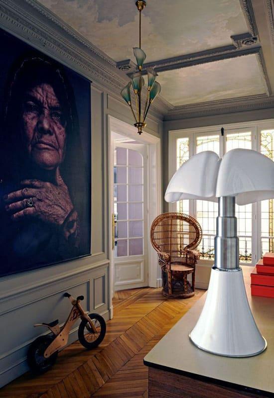 Lampe Pipistrello et style Haussmanien