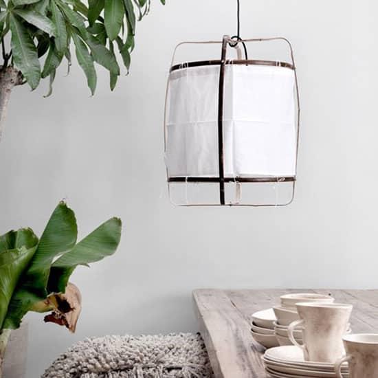 Suspension en bambou et en coton