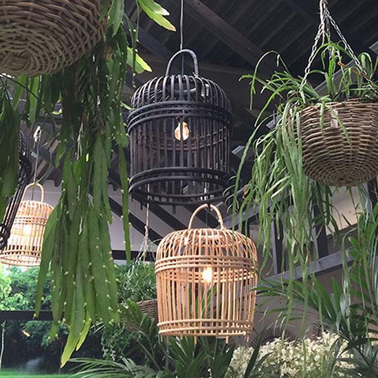 Suspension cage en bambou