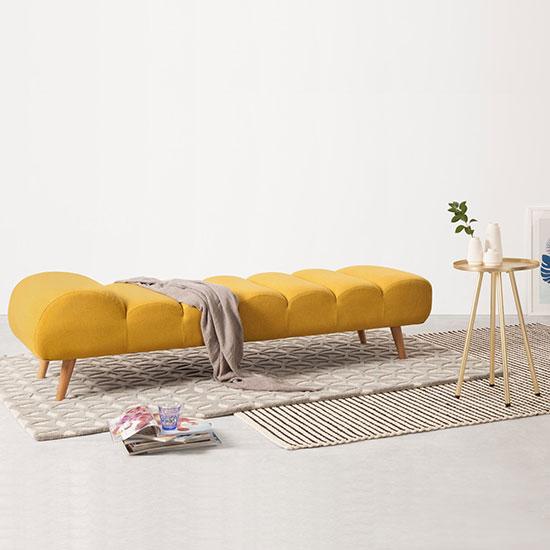 Banquette lit jaune