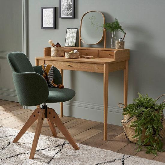 Chaise de bureau pivotante avec accoudoirs