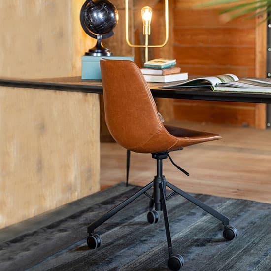 Chaise de bureau pivotante en simili cuir