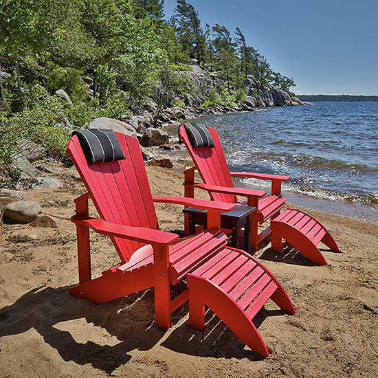 Fauteuil adirondack rouge