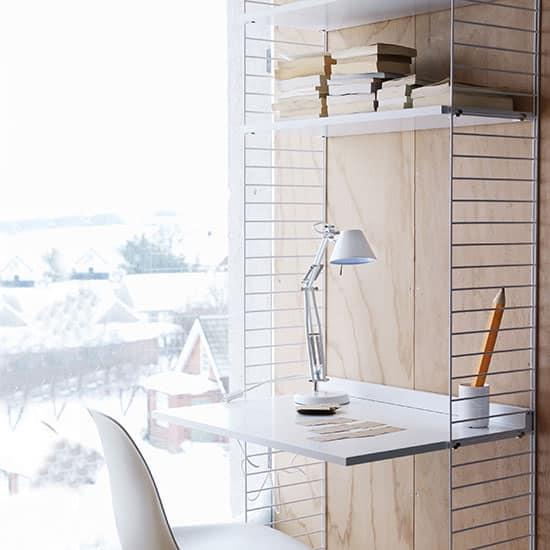 Bureau bibliothèque pour étagères String