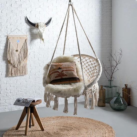 Fauteuil chaise suspendue