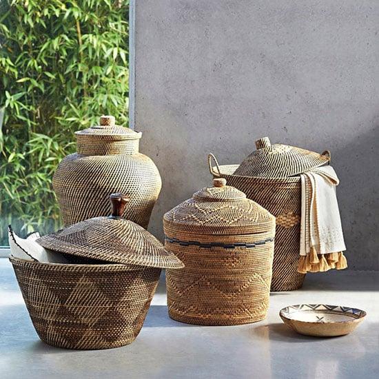 Panier à linge en bambou artisanal