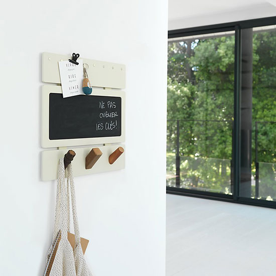 Porte clé mural type organisateur d'entrée ou bureau