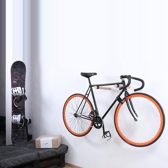 Support vélo mural d'appartement