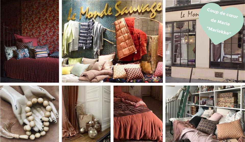 le monde sauvage boutique déco Paris