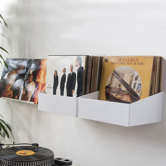 Rangement mural à disque vinyle