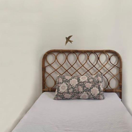 Tête de lit en rotin pour enfant vintage