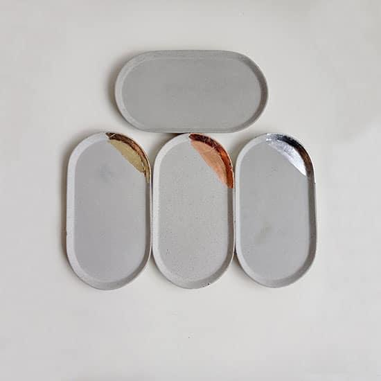 Vide poches en béton fait main