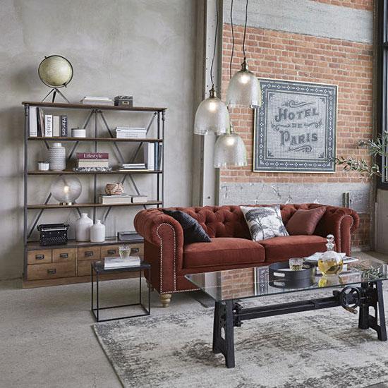 Bibliothèque industrielle avec tiroirs