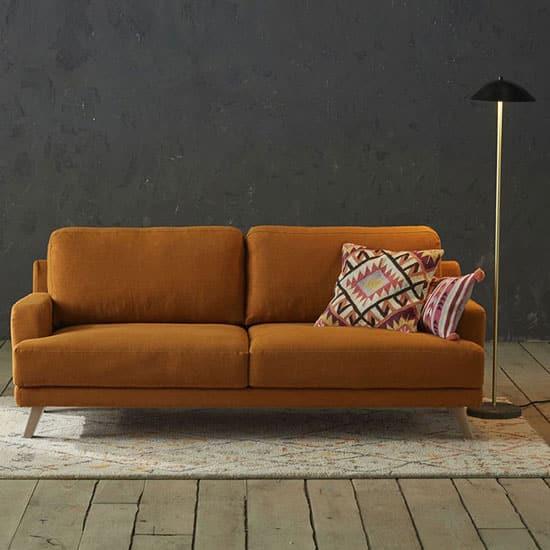 Canapé en lin, style scandinave