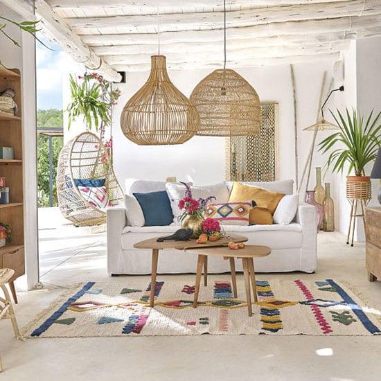Canapé en lin 3 places