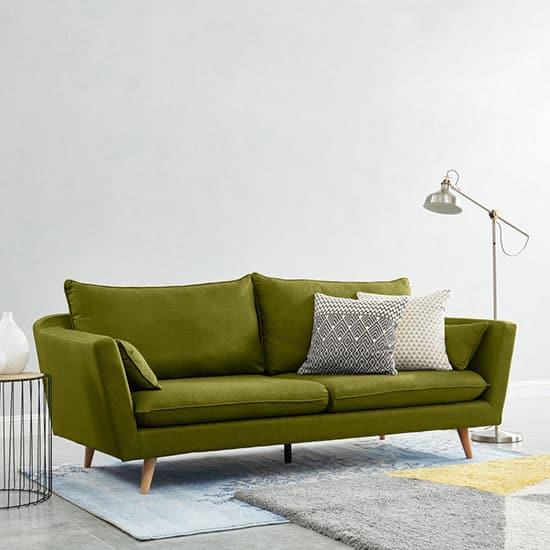 Canapé vert scandinave