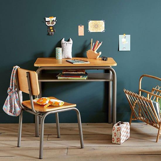 Chaise de bureau pour enfant en bois