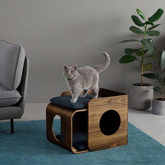 Panier pour chat design en cube