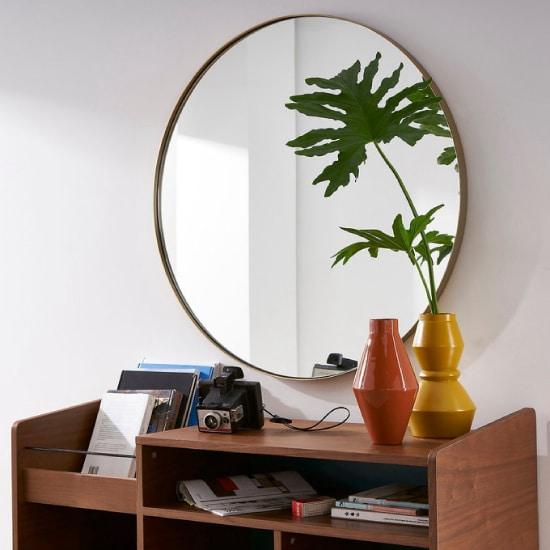 miroir en laiton mural de grande dimension