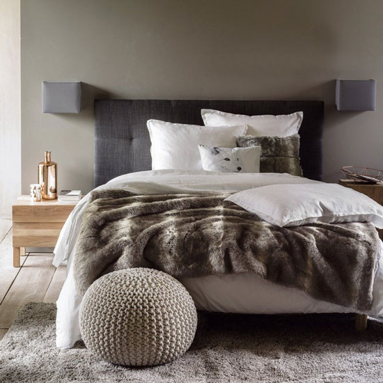 Plaid fausse fourrure chambre cocooning